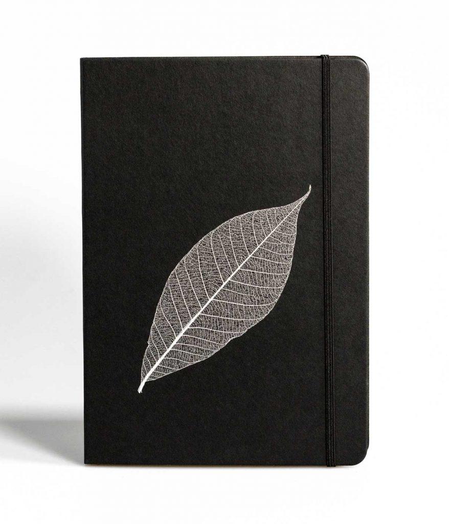 PureBooks. Skelettblatt Schwarz.